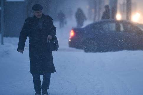 Желтый уровень опасности объявлен в столице России 20января из-за ветра